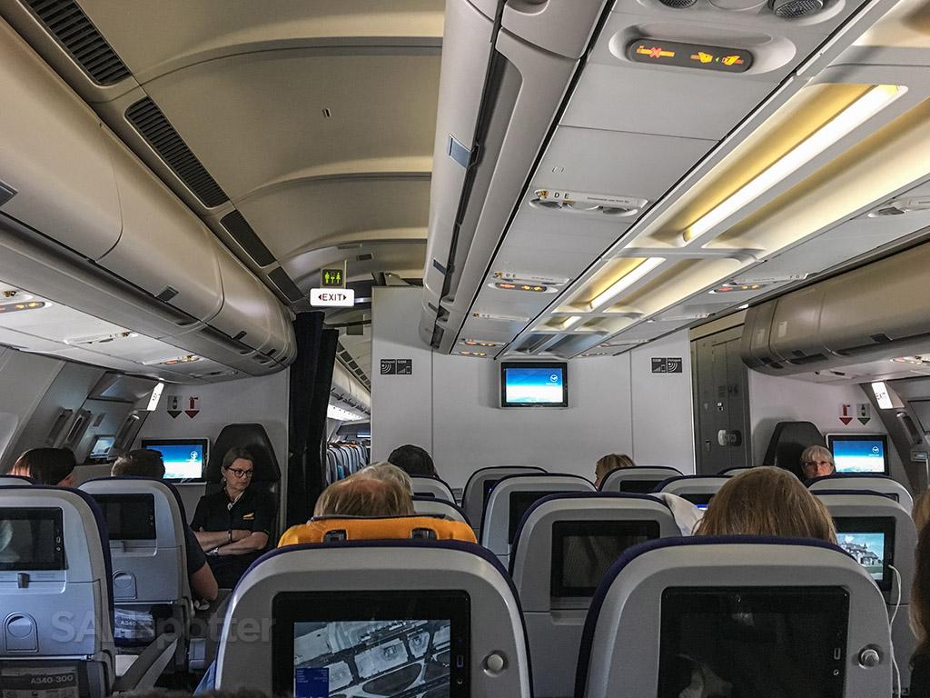 Lufthansa A340 interior