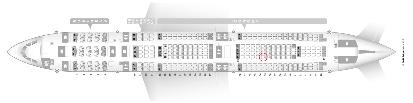 Lufthansa A340-300 seat map
