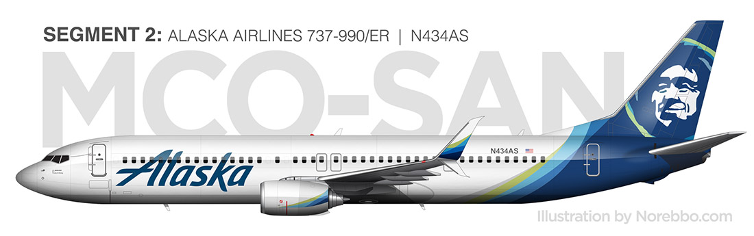 Alaska Airlines 737-900/ER new livery side view