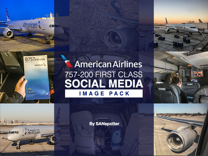 American Airlines 757 social media image pack