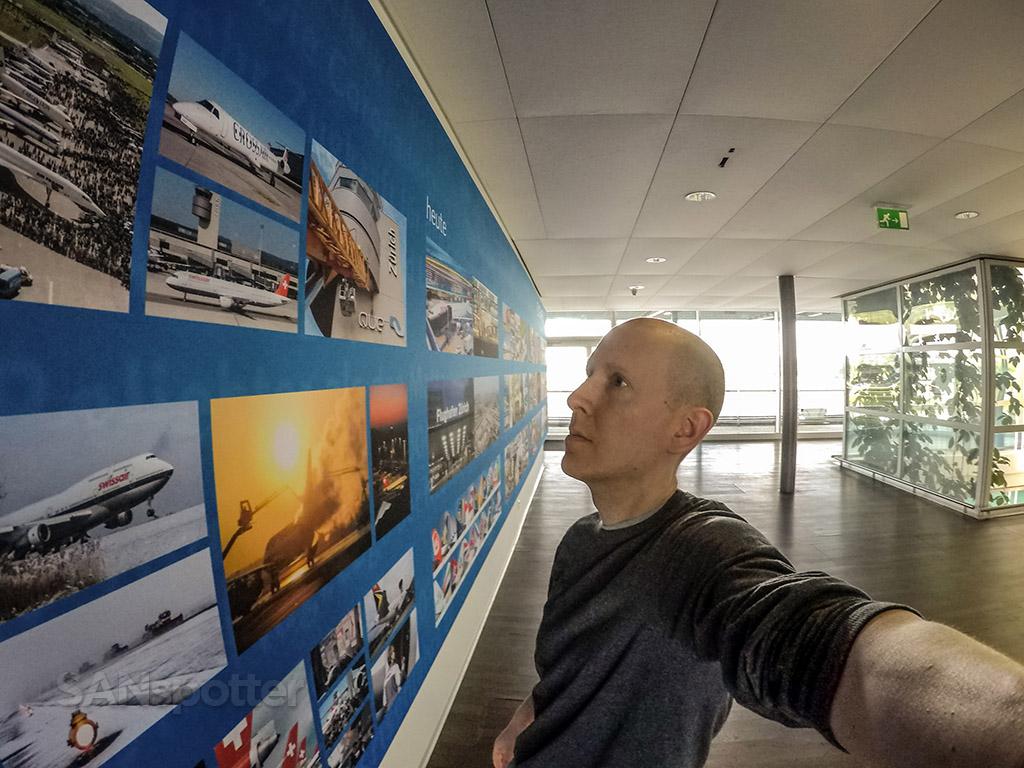 SANspotter selfie ZRH airport