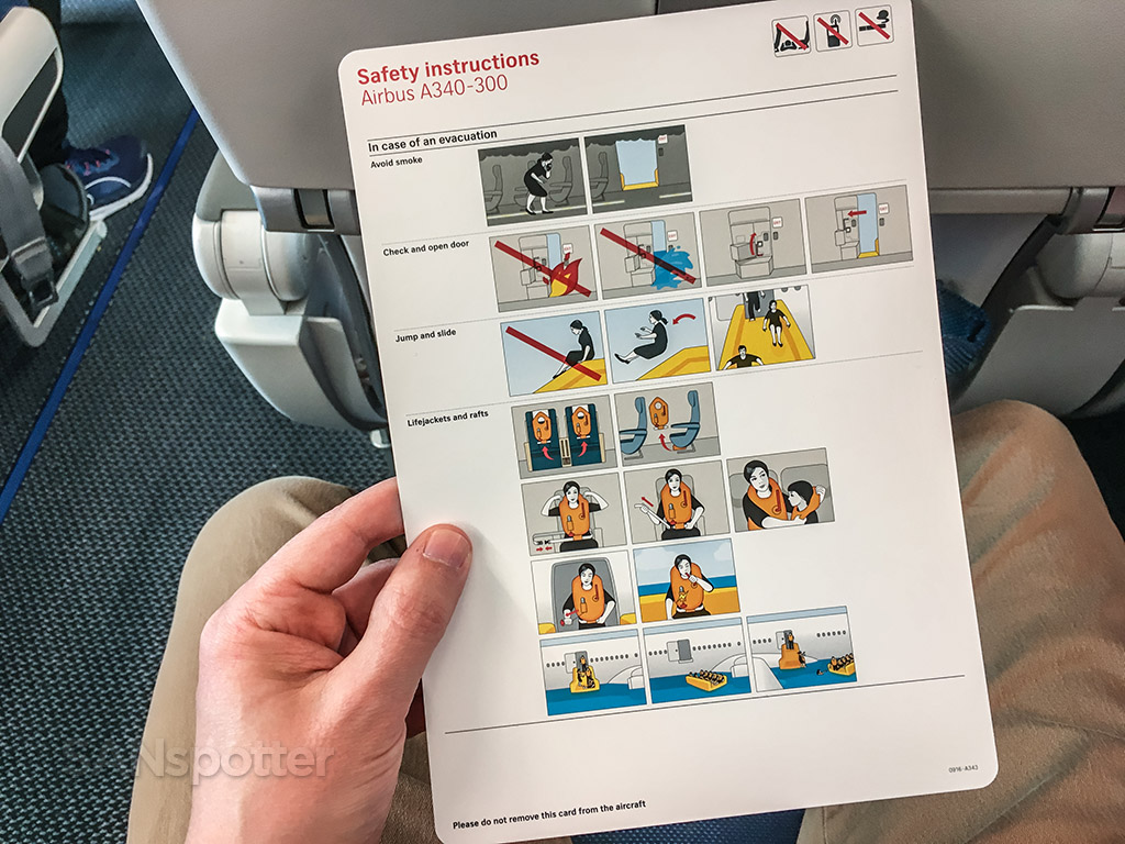 Edelweiss A340 safety card