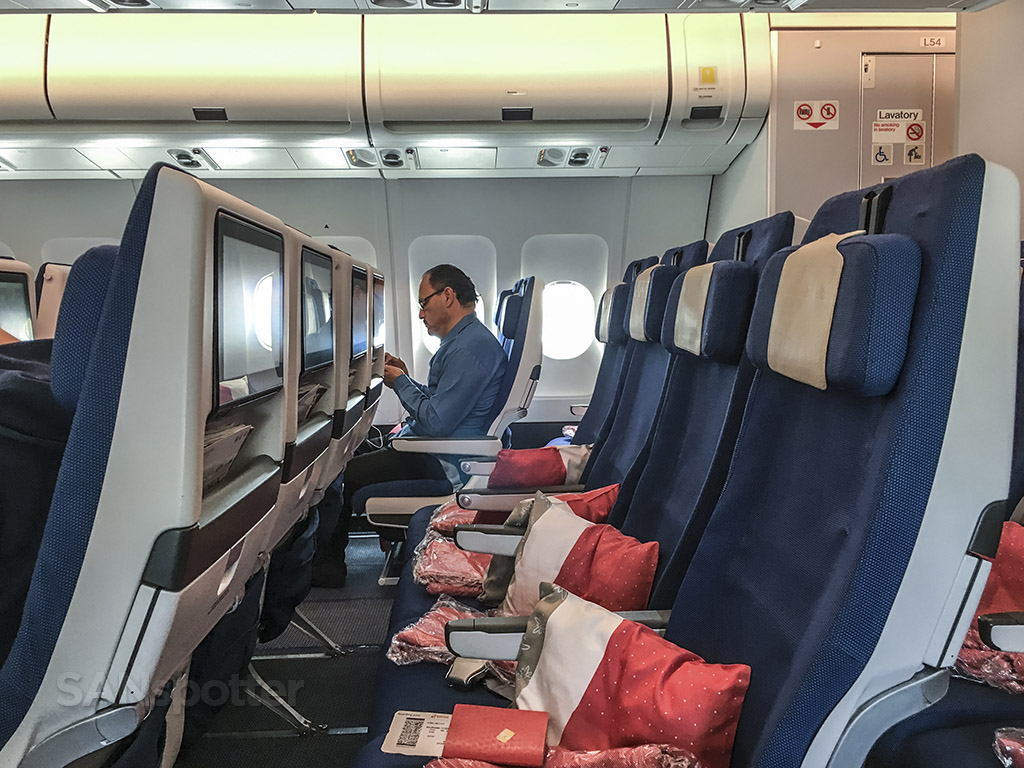 Edelweiss A340 economy class