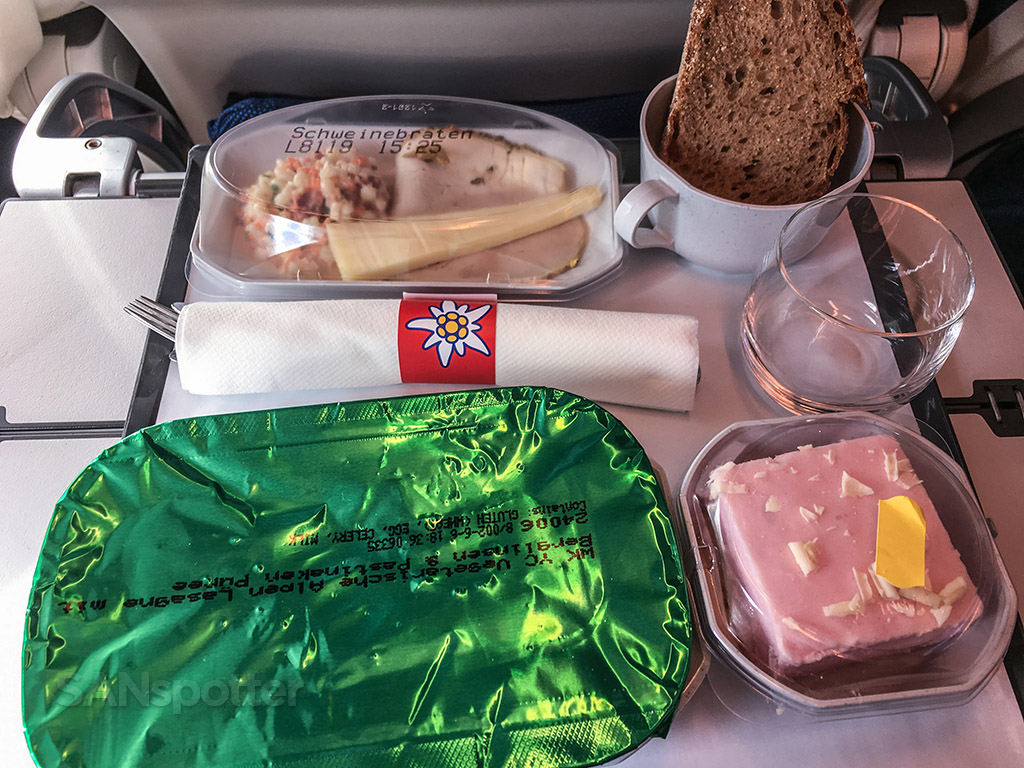 Edelweiss economy class lunch