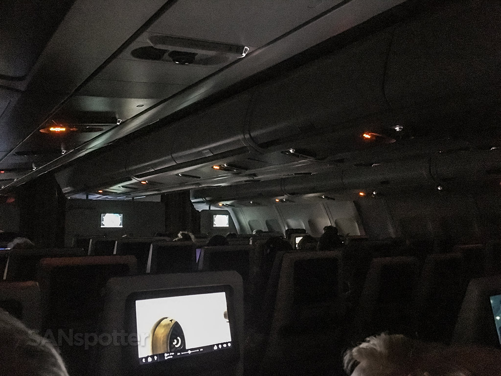 Edelweiss air A340 dark cabin