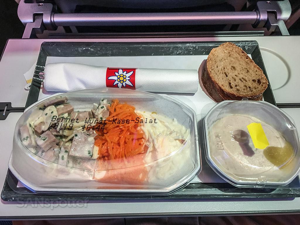 Edelweiss Economy class breakfast