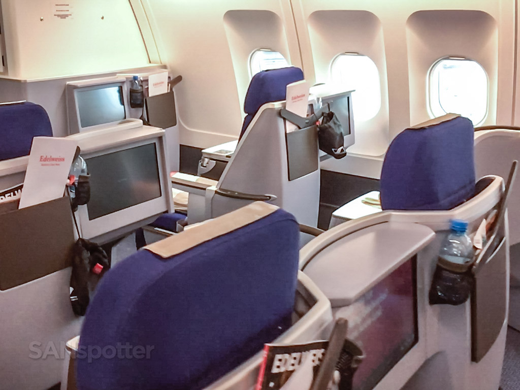 Edelweiss air A340 business class