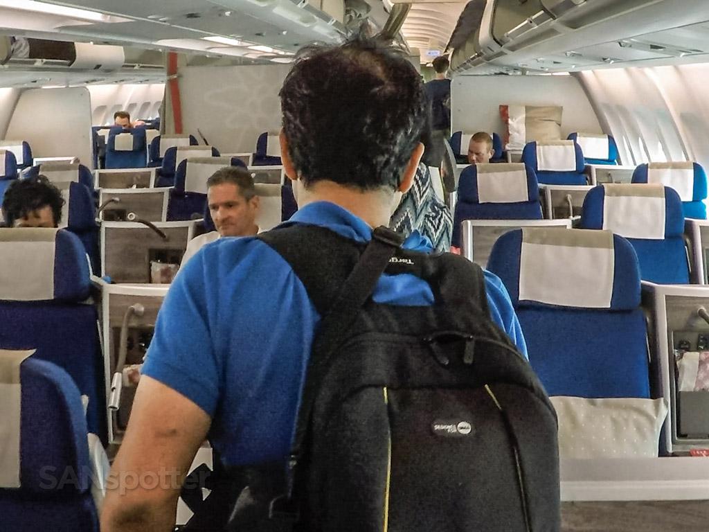 Edelweiss A340 Business class