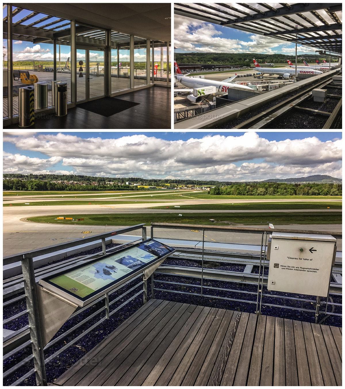 Zürich airport observation deck terminal E