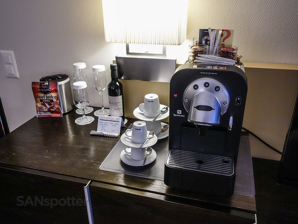 Nespresso machine Four points Sheraton Zürich
