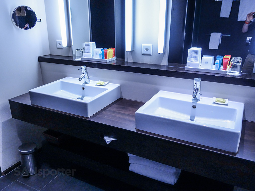 Four points Sheraton Zurich suite bathroom vanity