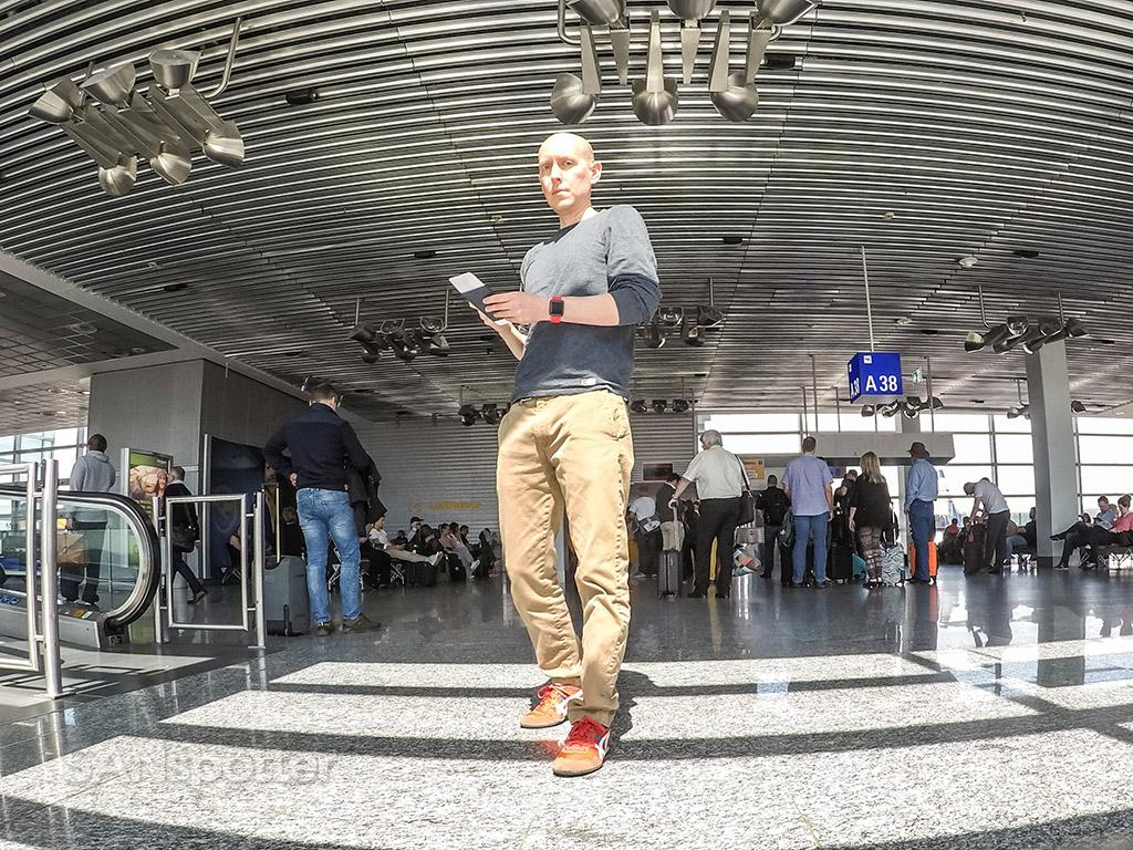 SANspotter selfie Frankfurt Airport