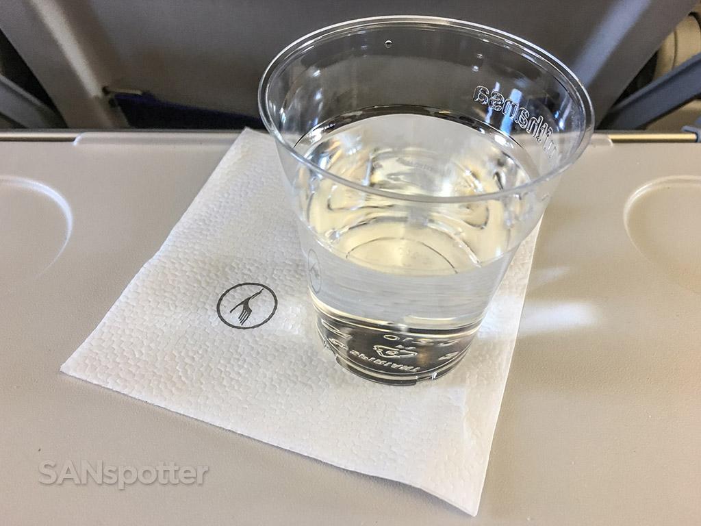 Lufthansa Economy class beverage service