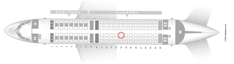 Lufthansa A319 seat map