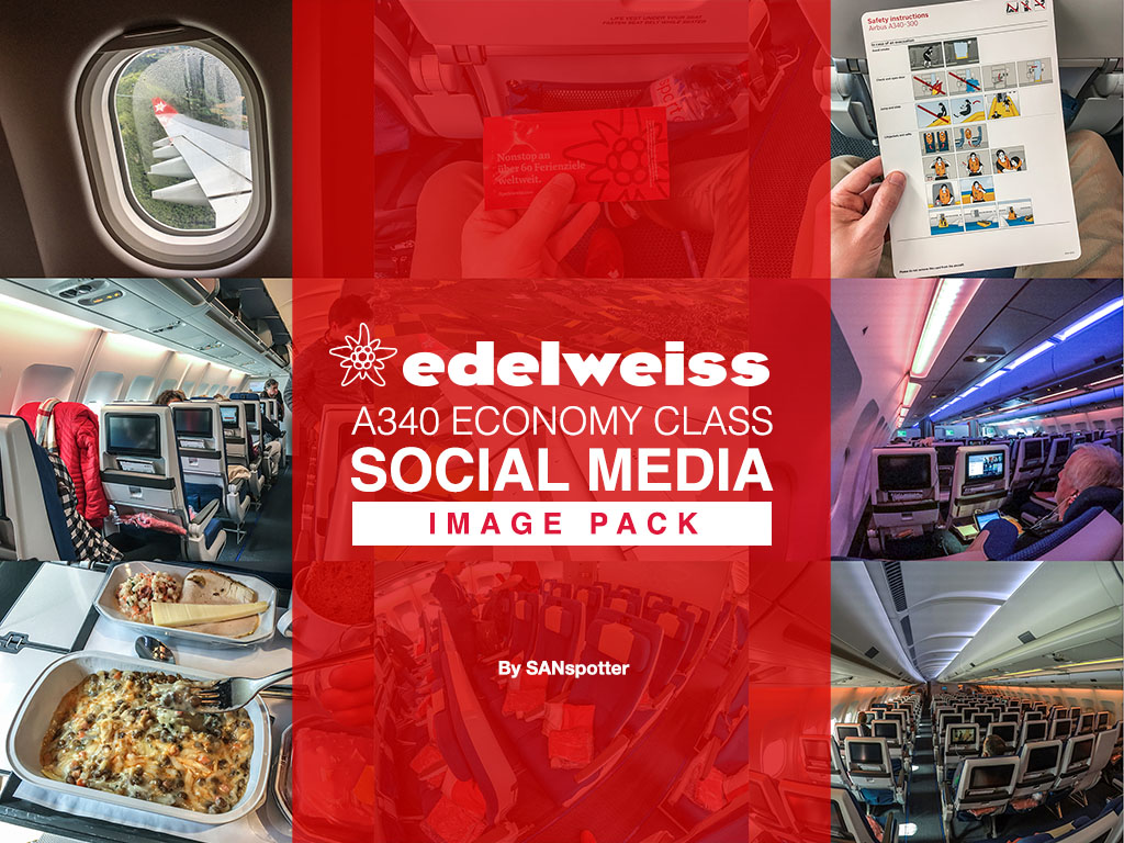 Edelweiss Air A340 economy class social media image pack