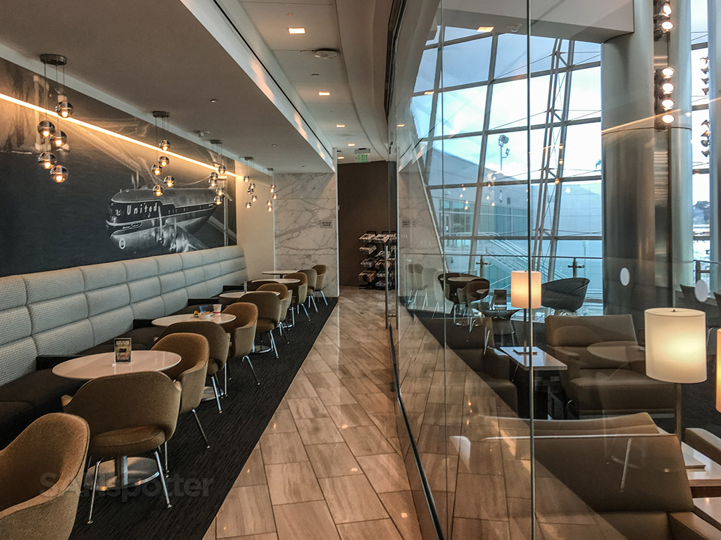 United club San Diego airport interior