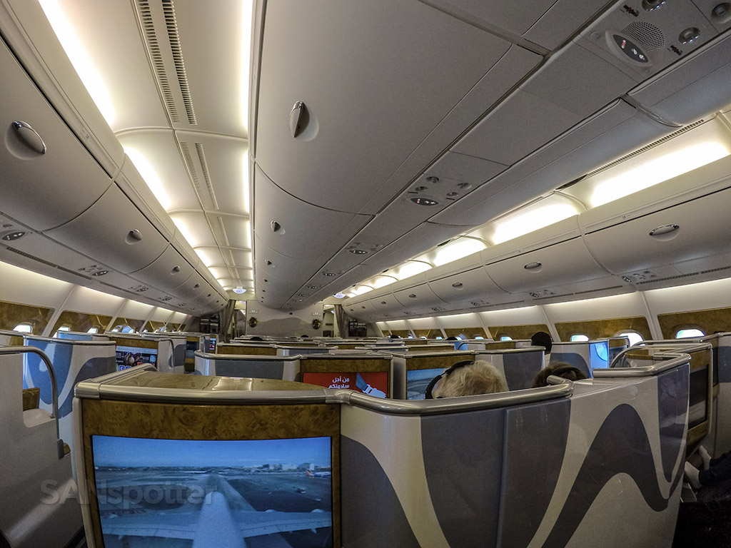 Emirates A380 business class interior