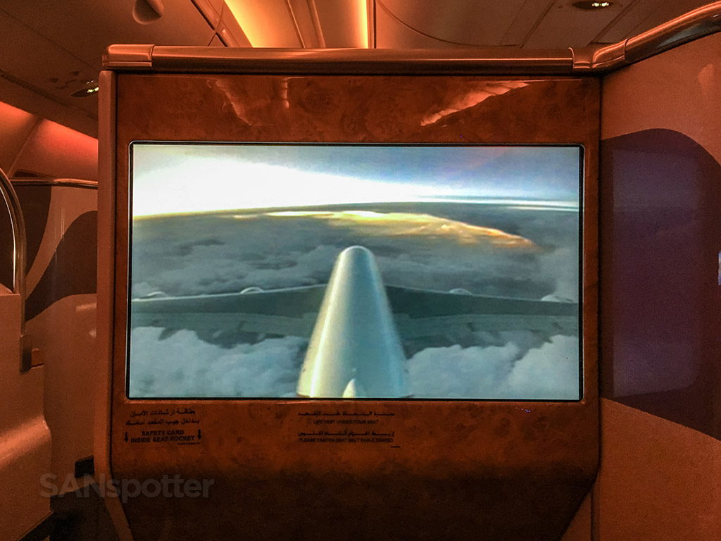 emirates a380 outside camera view