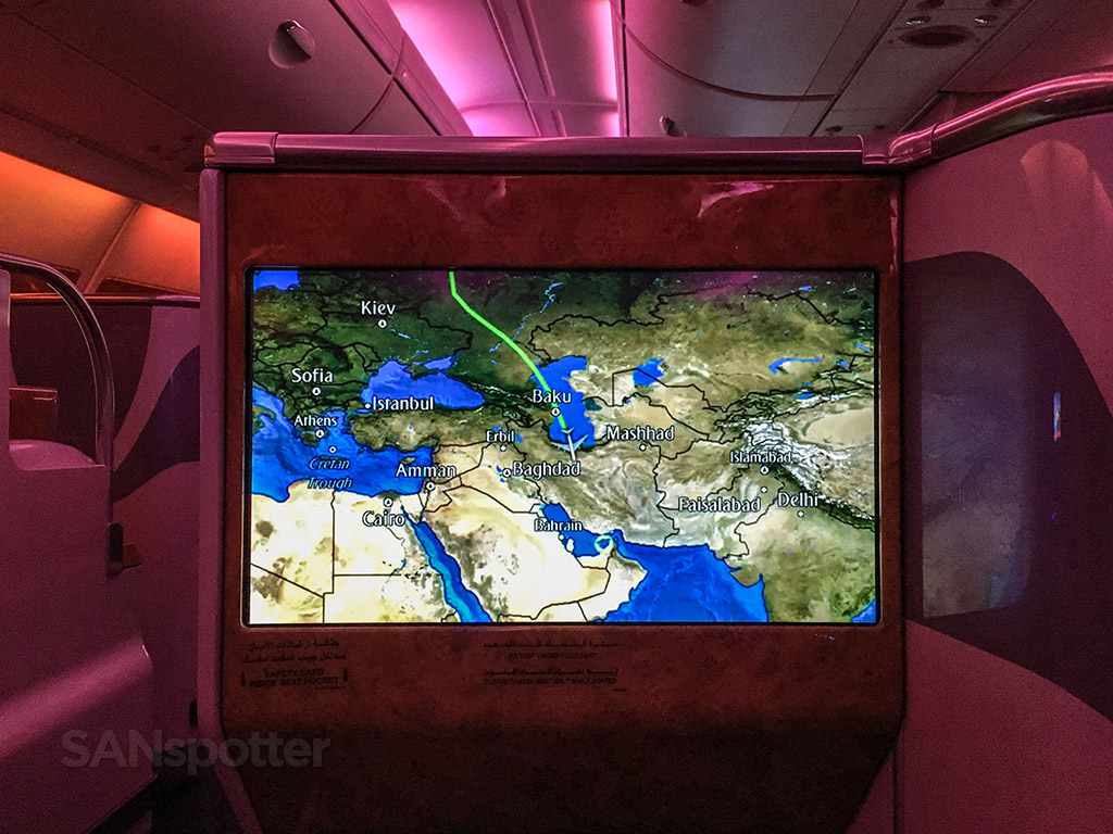 Flying over the Middle East