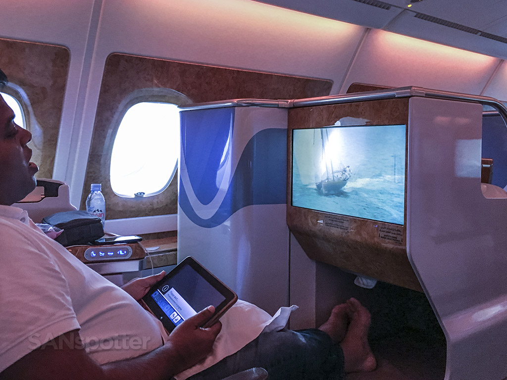 Emirates A380 flight experience