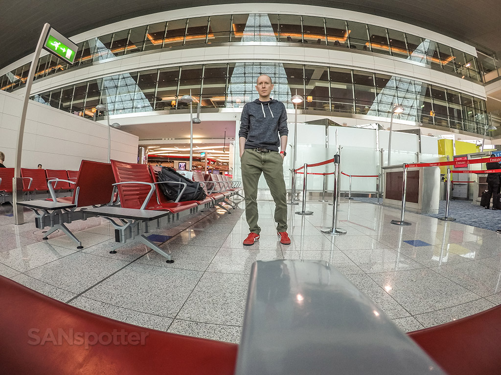 SANspotter selfie Dubai Airport