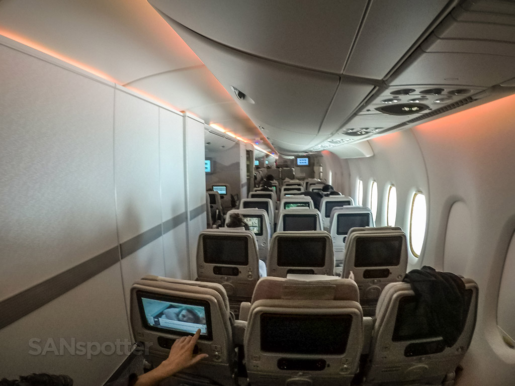 Emirates A380 800 Economy Class Dubai To Los Angeles Sanspotter