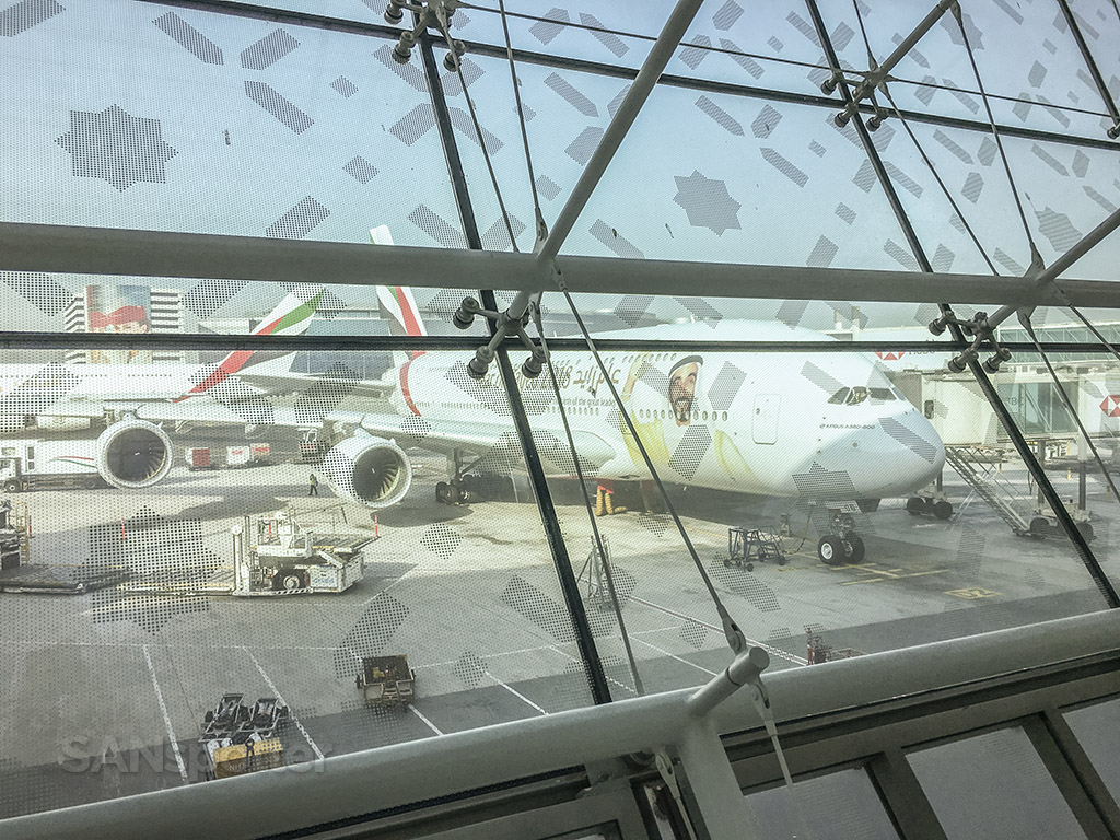 Emirates A380 Dubai airport