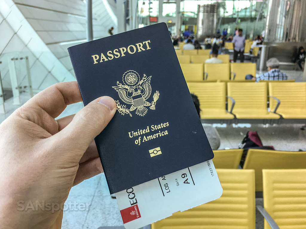 US passport Dubai airport
