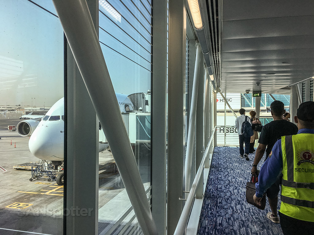 Boarding emirates A380 Dubai