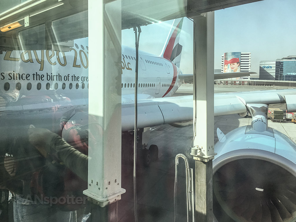 Emirates A380 up close