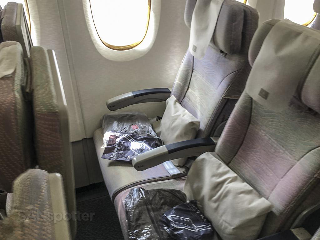 Emirates A380 economy class seats