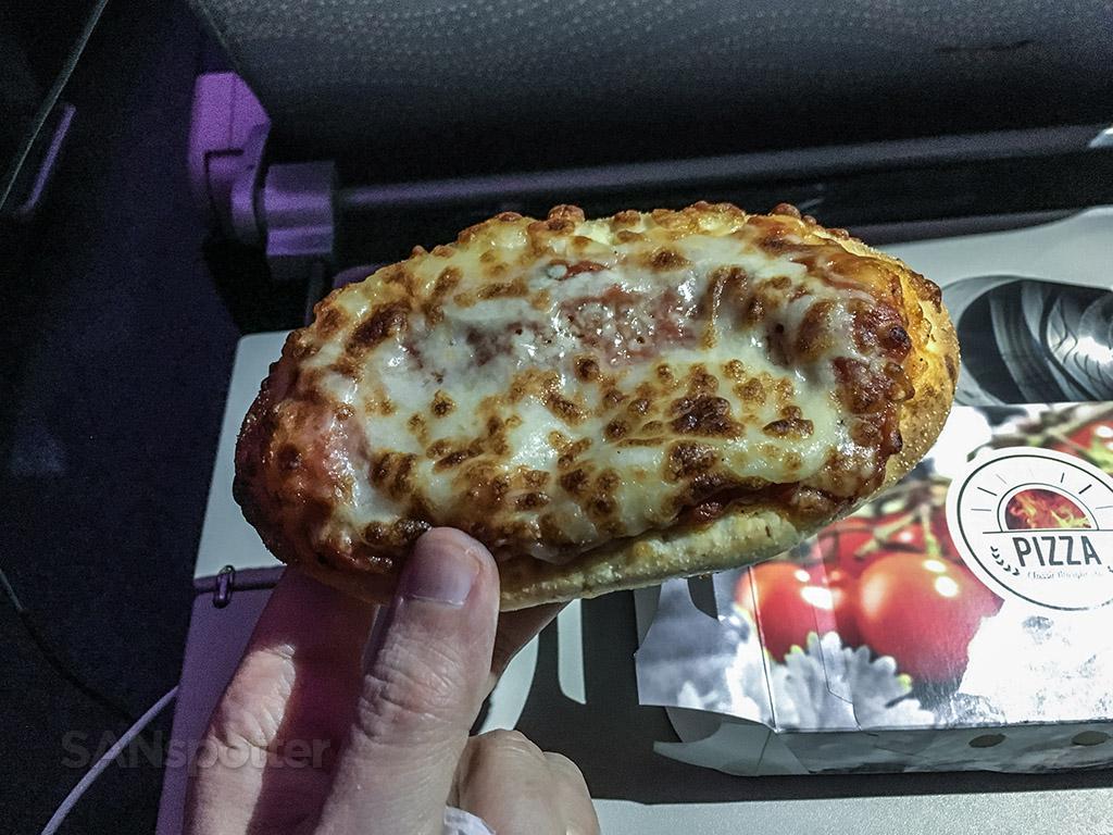 Emirates economy class pizza