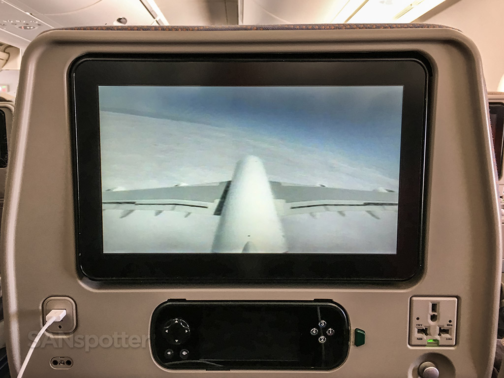 Emirates A380 tail camera view