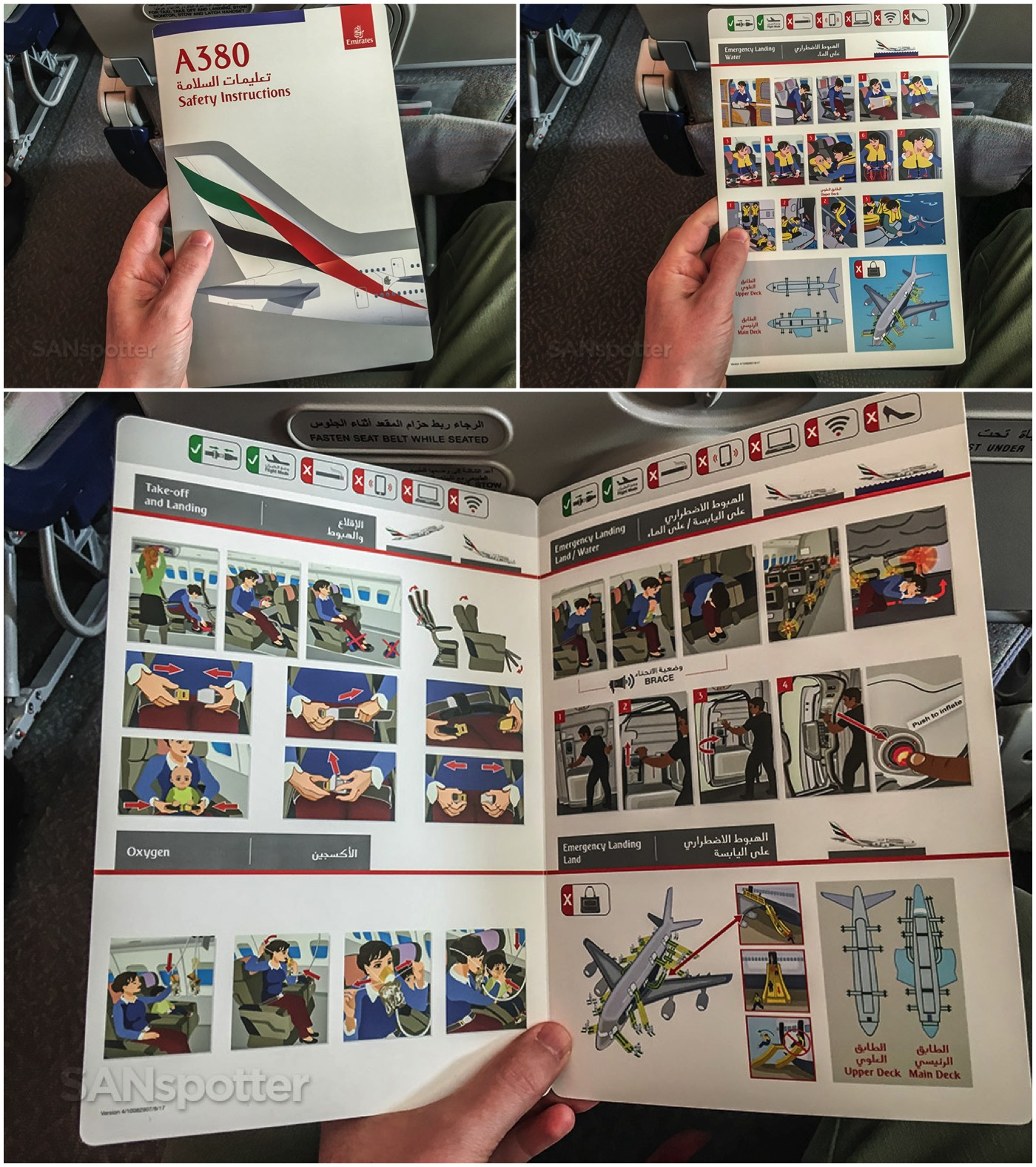 Emirates A380 safety card