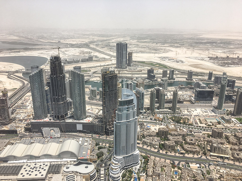 View of Dubai from Burj Khalifa