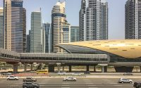 Dubai metro train station