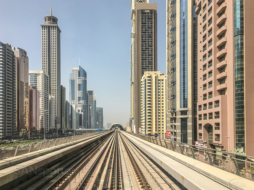 View from Dubai metro