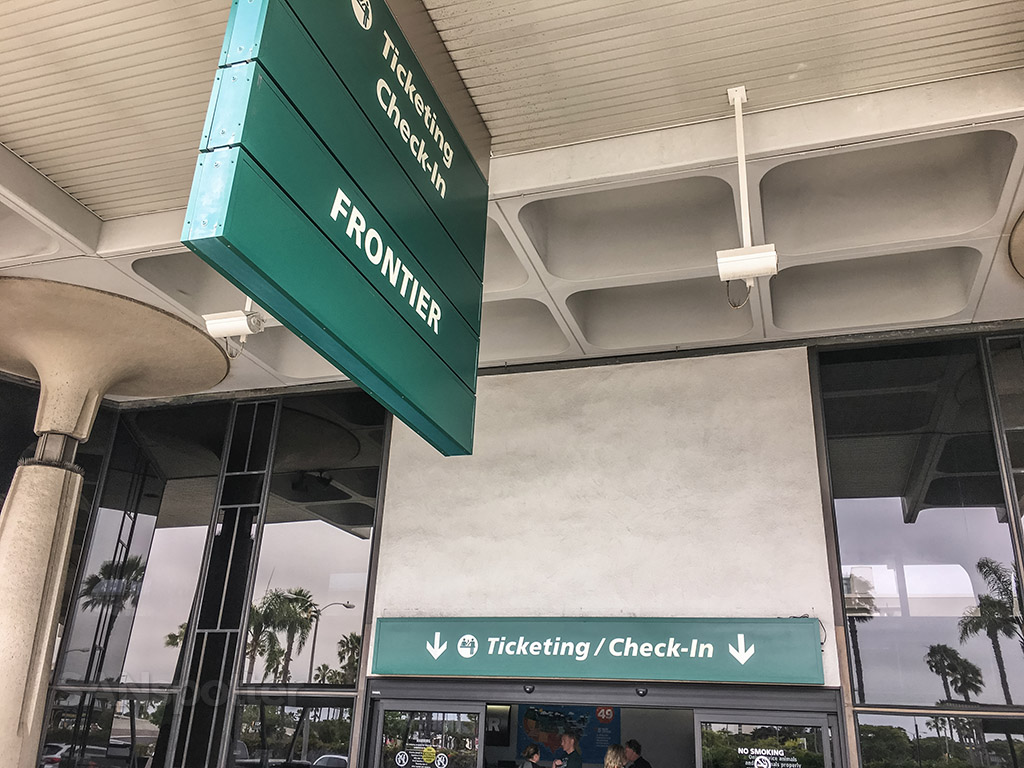 Frontier airlines terminal one San Diego