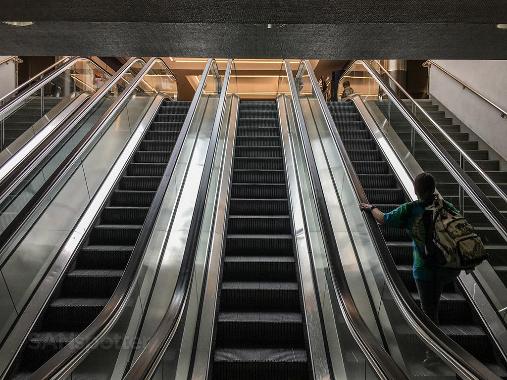 San Diego airport terminal one escalator