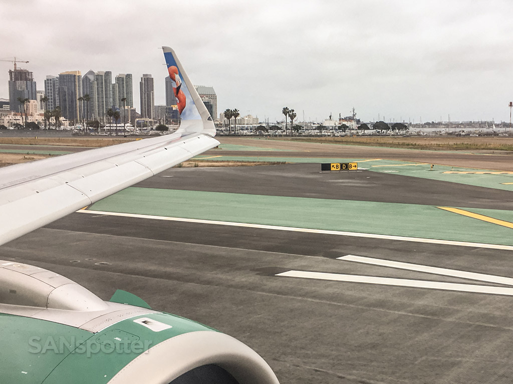Frontier Airlines take off San Diego