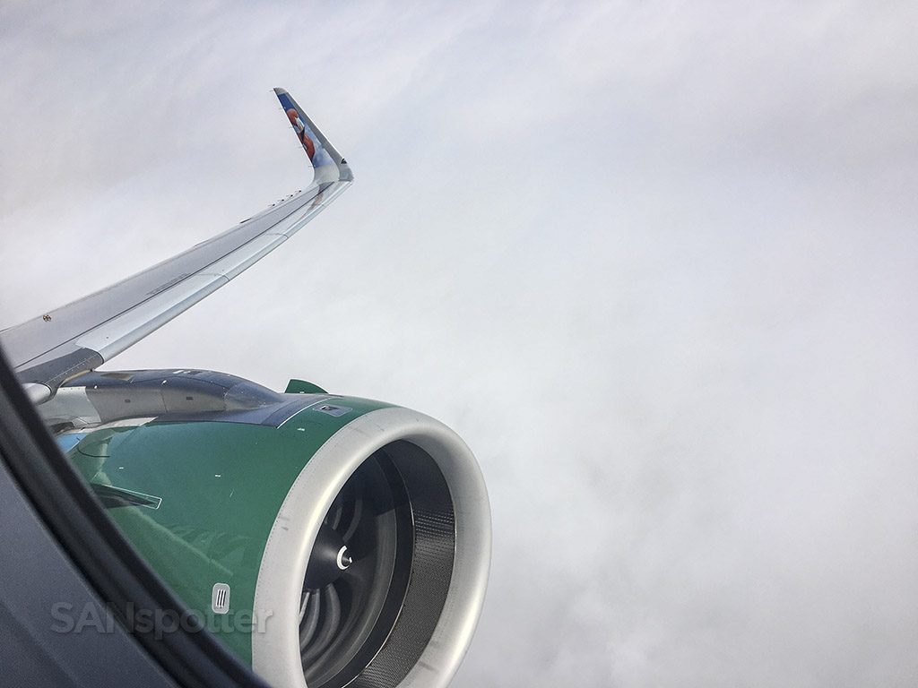 Frontier Airlines A320neo engine close up