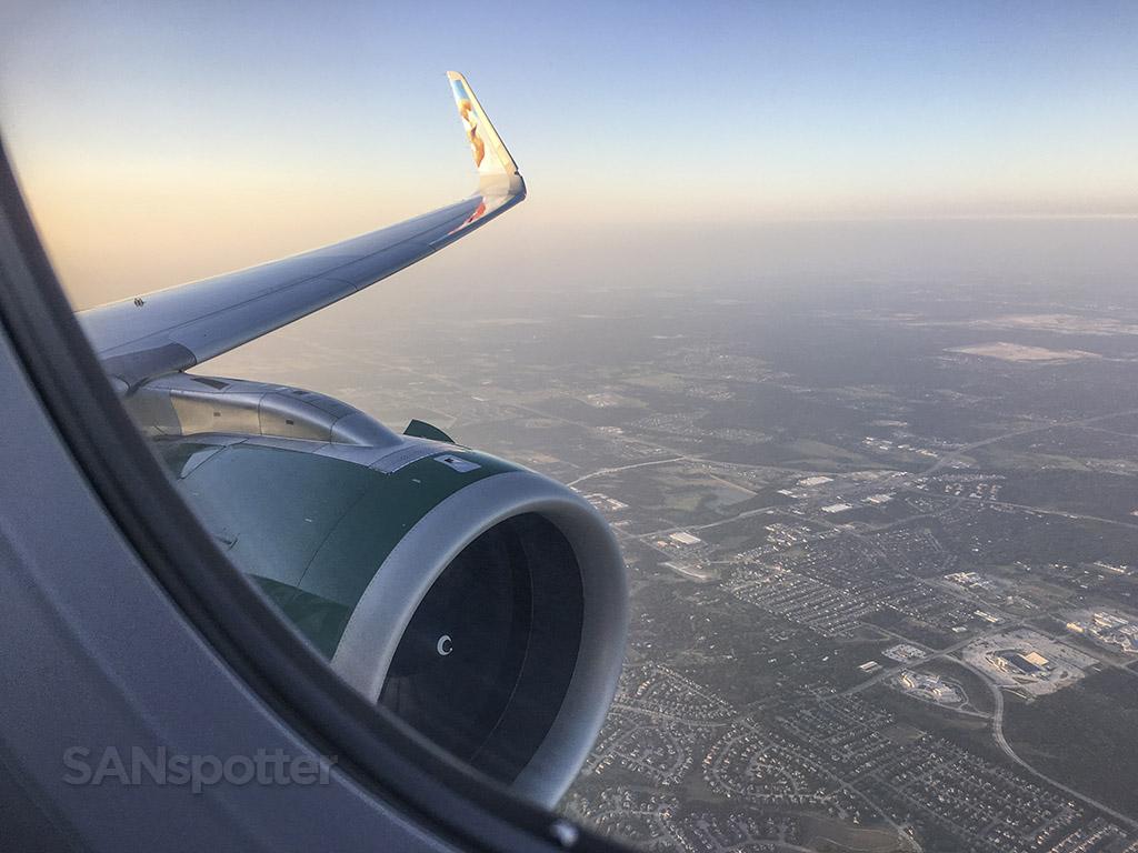 Flying into Austin Texas