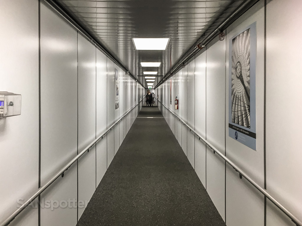 Really long jet bridge Austin airport