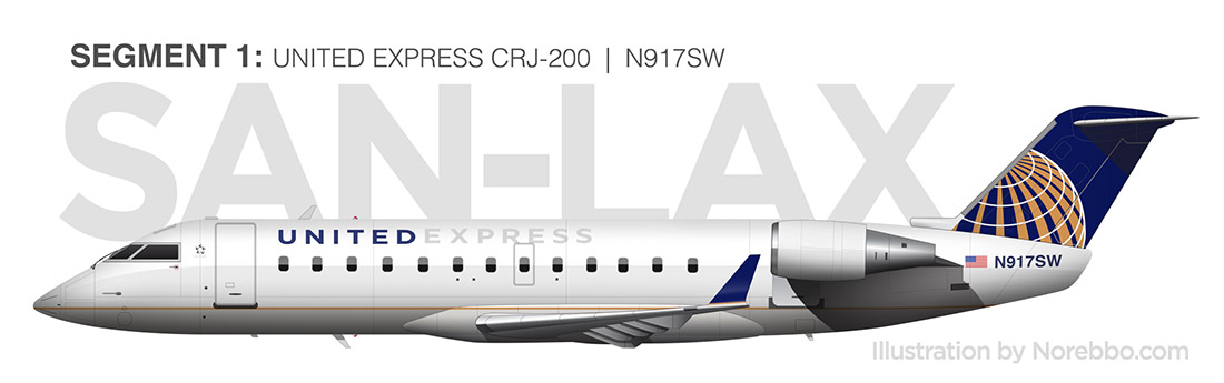 United Express CRJ-200 side view