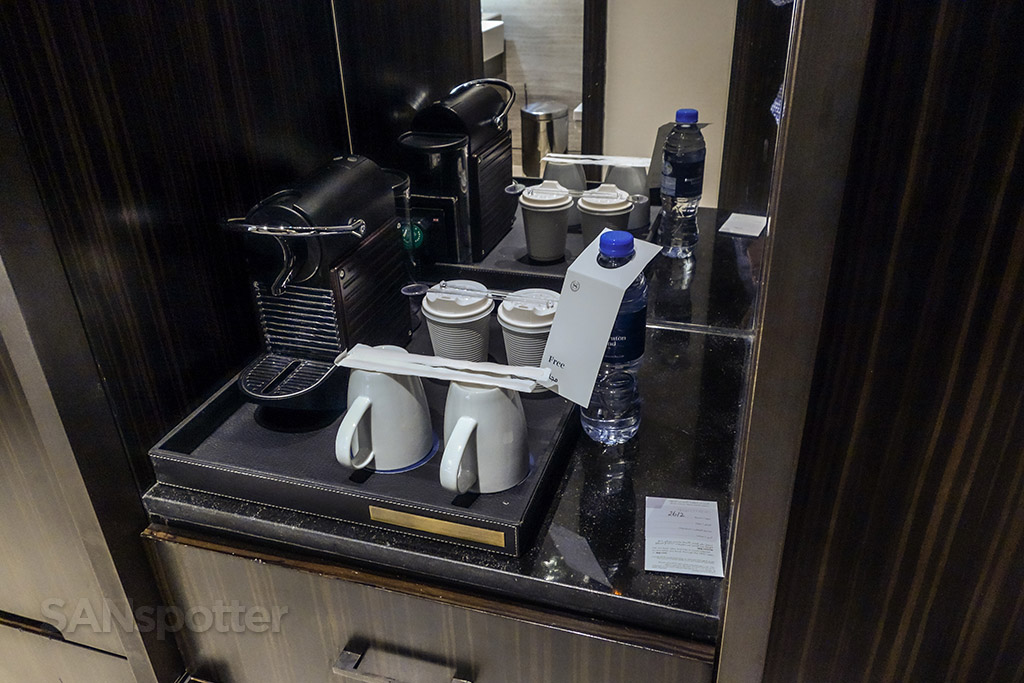 Free coffee and water Sheraton grand Dubai