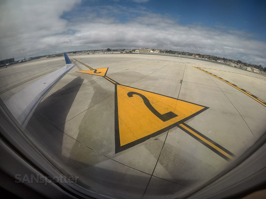 San Diego airport runway markings