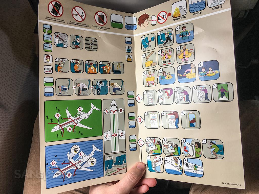 United express CRJ-200 safety card