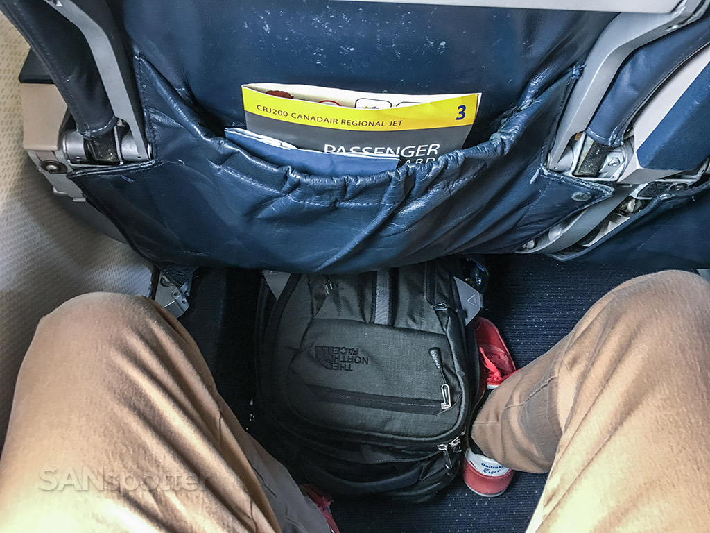 United express CRJ-200 leg room