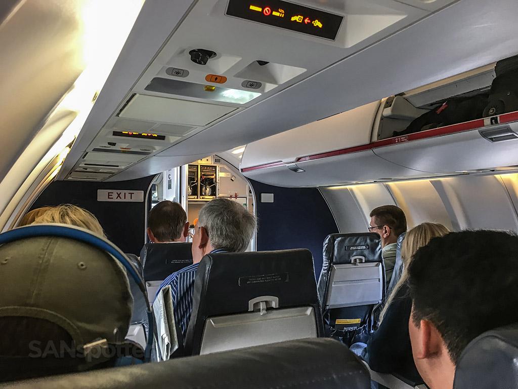 United express CRJ-200 main cabin bulkhead