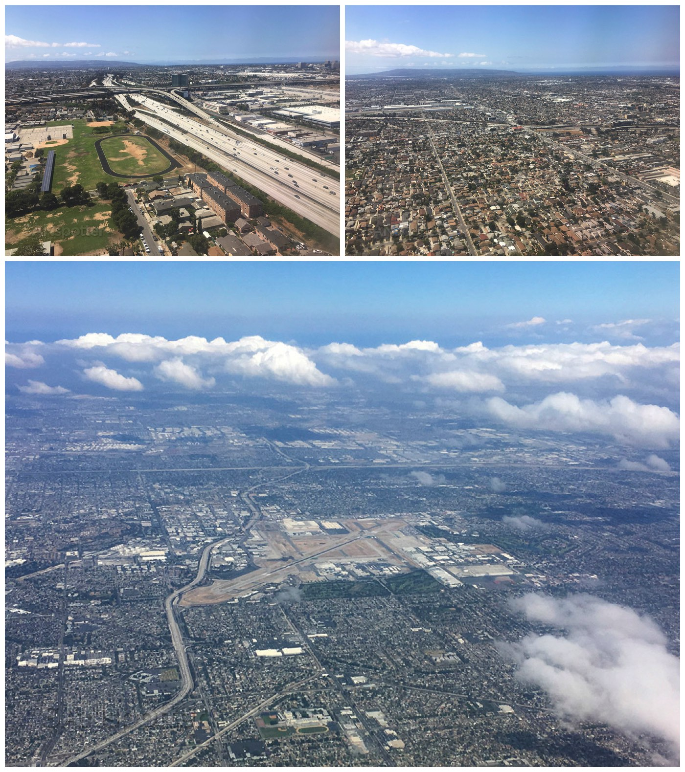 Flying over Los Angeles California